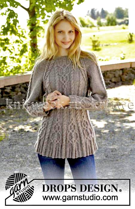 Пуловер с рукавом реглан.