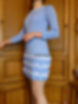 зание на заказ, платье спицами