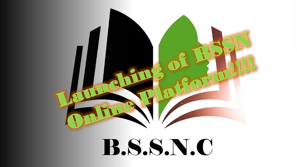 Sign saying the BSSN is launching their online platform