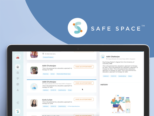 Safe Space Mental Health UX Redesign