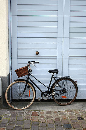 Danish bike in street