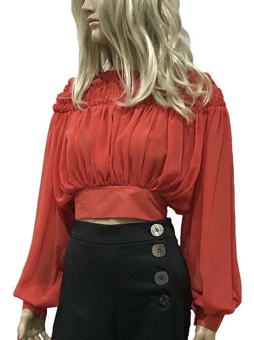 Blusa curta com laço nas costas TIMIAMI