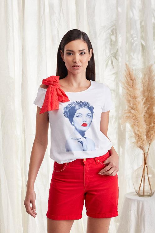 T-shirt com laço BIGZONE