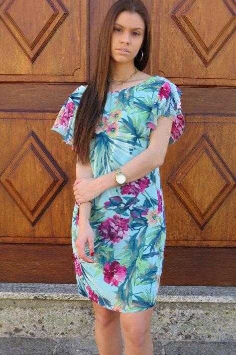 Vestido às flores ALBERTINA VIEIRA