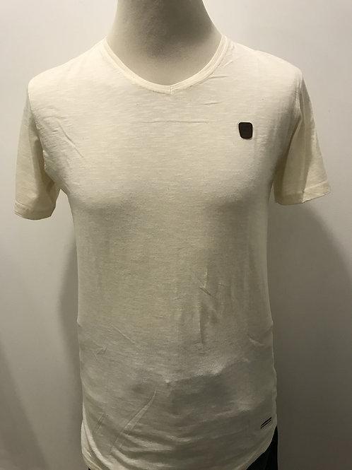 T-shirt de gola em bico DFW89