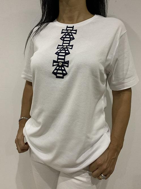 T-shirt de algodão Q..!MODA