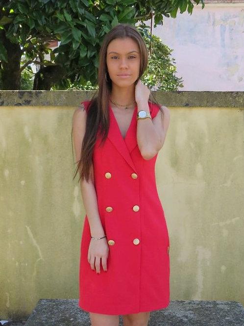 Vestido com botões ALBERTINA VIEIRA