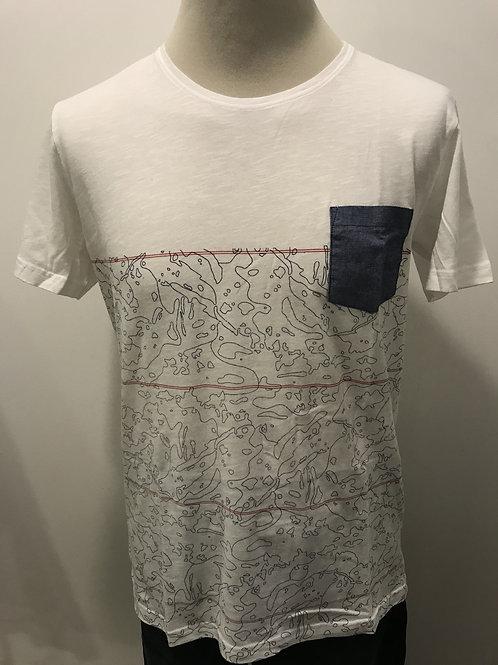 T-shirt com bolso DFW89