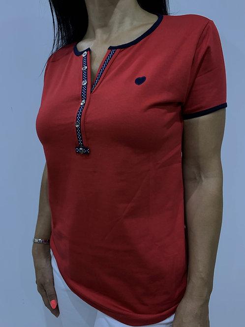 T-shirt com botões NARPIN