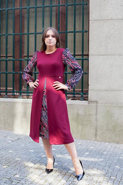 Vestido contraste ALBERTINA VIEIRA
