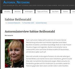 Interview Autoennetzwerk, Sabine Reifenstahl