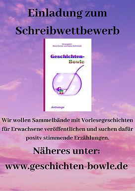 Schreibwettbewerb, Geschichten-Bowle, Sabine Reifenstahl