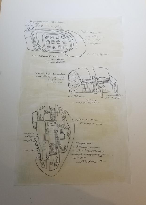Da Vinci Insipired Illustration, Gaming Mouse I