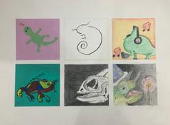 Six Spots: Lizards
