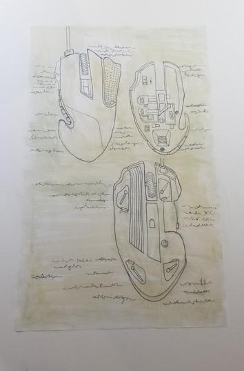 Da Vinci Insipired Illustration, Gaming Mouse II