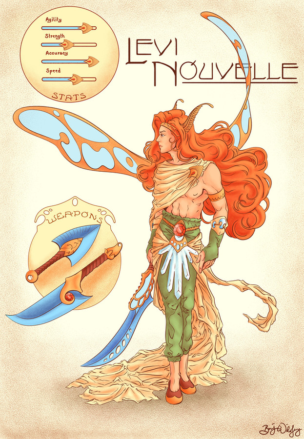 Art Nouveau Character Design