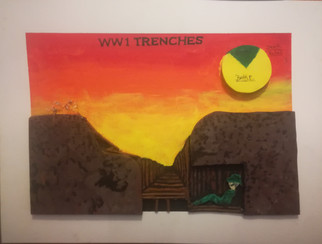 Infographic on WW1 Trenches