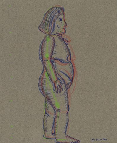 Life Drawing - Frances