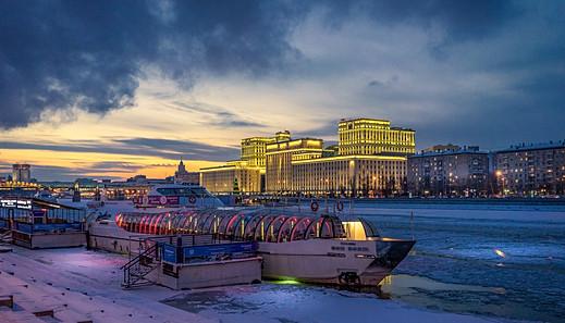 Moskau - Moskwa-Ufer am Gorkipark