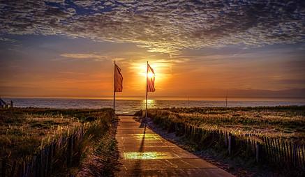 Noordwijk Sonnenuntergang