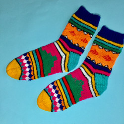 Knitted South African mens socks