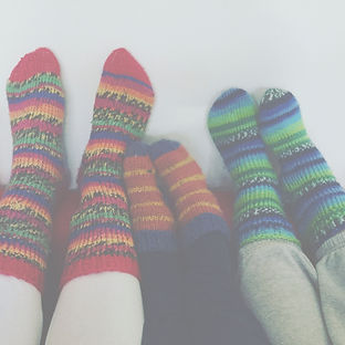 knitted colourful socks