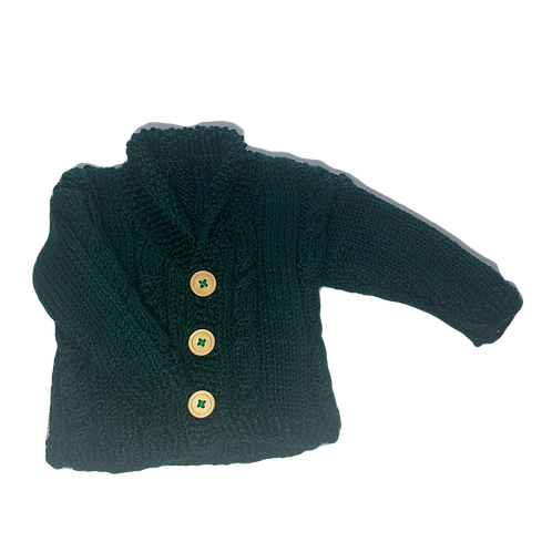 Bottle Green Cable Cardigan