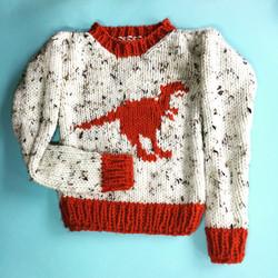 knitted Dinosaur T-rex Jumper