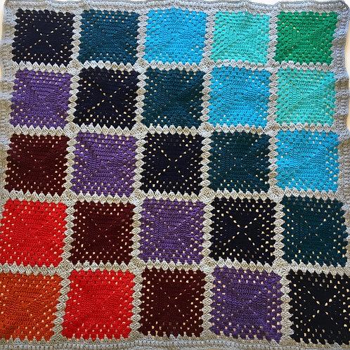 Gradient Granny Square Lap Blanket