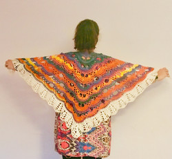 Crochet Lightweight rainbow shawl