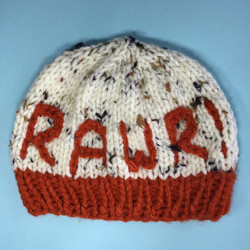 Rawr Dinosaur knitted beanie hat