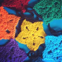 Crochet Rainbow Star Bunting
