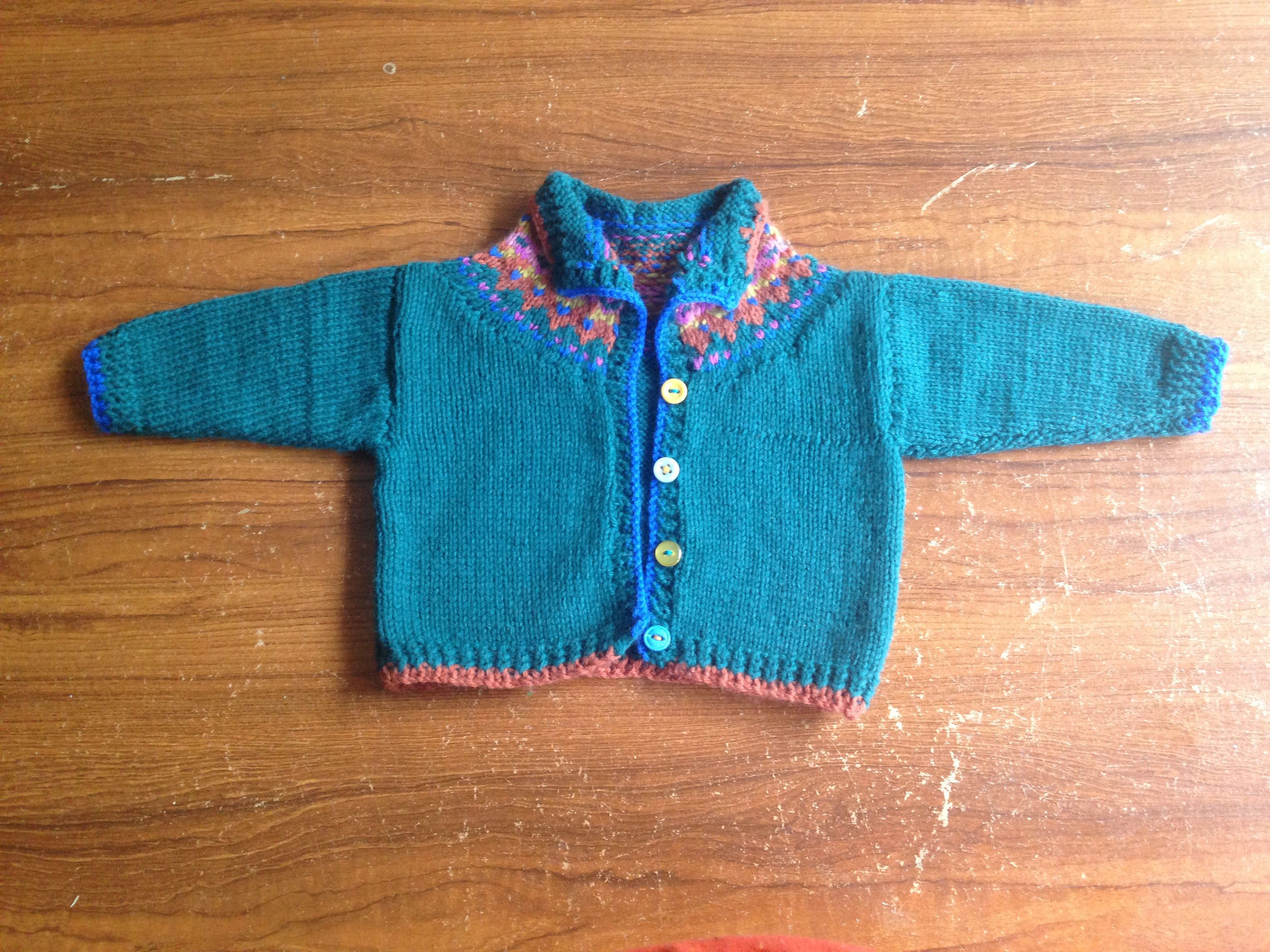 Knitted Fair isle baby cardigan