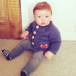 Baby knitted fox pockets cardigan