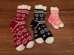 Family Snowflake knitted Socks
