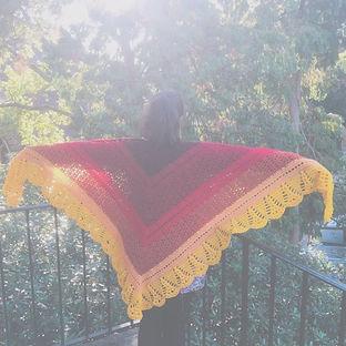 knit crochet shawl wrap