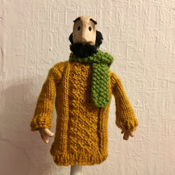 knitted Puppet jumper and scarf