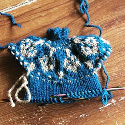 Puppet fair isle knitted jumper