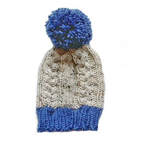 Custom Cable Knit Hat