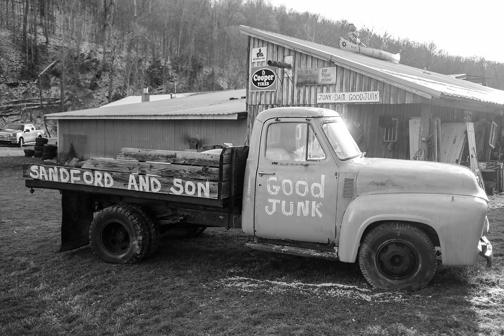 Good Junk a Sanford and Son throw back near Grafton West Virginia