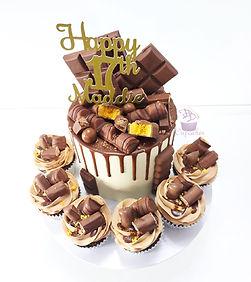 Chocolate Overload Drip Cake & Cupcakes.