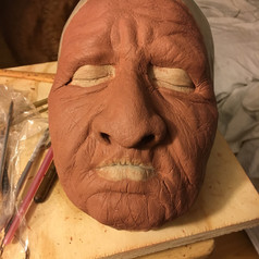 """Sculpting fictional elderly Native American woman named """"Great Mother"""""""