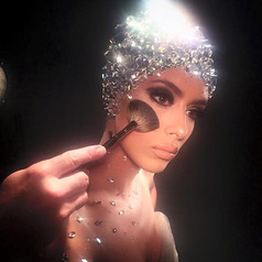 Assisted Makeup Artist: Scott Barnes Hair: Frank Galasso Photographer: Marcelo Cantu Leesa Simone: Helped Create and Design the Swarovski Cap and applied the body crystals