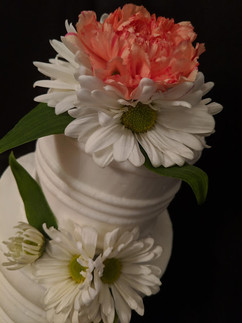 3-Tier All white Textured Buttercream We