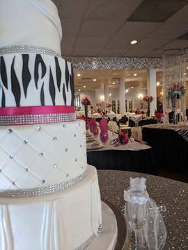 4-Tier Zebra and Fuschia Wedding Cake3.j