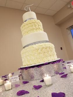 Rosette and Glitter Purple Wedding-5