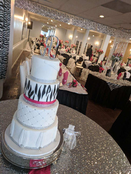 4-Tier Zebra and Fuschia Wedding Cake.jp