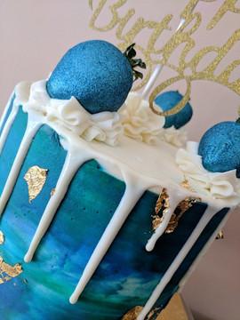 Peacock Water Color Drip Cake2.jpg