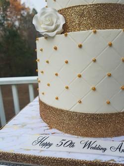 50th Wedding Anniversary Cake-6