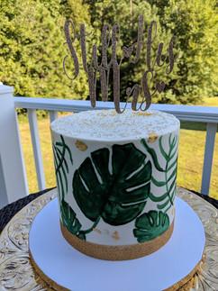 Tropical Leaf Painted Cake.jpg